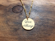 Load image into Gallery viewer, Gold Handwritten Circle Necklace-JazzieJ'sJewelry