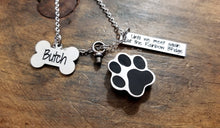 Load image into Gallery viewer, Pet Urn Paw Print Necklace-JazzieJ'sJewelry