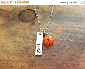Personalized Basketball Necklace-JazzieJ'sJewelry
