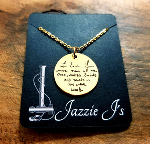 Gold Handwritten Circle Necklace-JazzieJ'sJewelry
