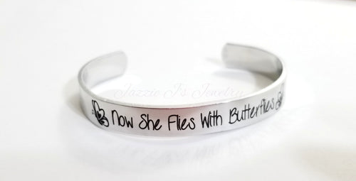 Now She Flies With Butterflies Cuff-JazzieJ'sJewelry