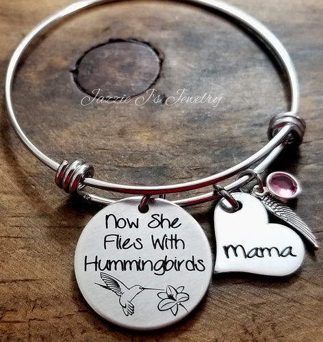 Now She Flies With Hummingbirds Bangle-JazzieJ'sJewelry