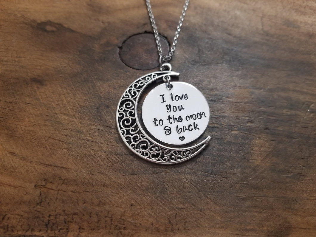 I Love You To The Moon & Back Necklace-JazzieJ'sJewelry