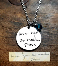 Load image into Gallery viewer, Handwritten Necklace with Birthstone-JazzieJ'sJewelry