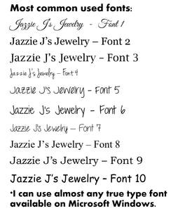 Name Bar Necklace-JazzieJ'sJewelry