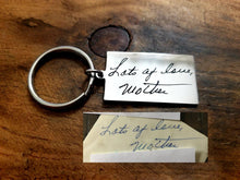 Load image into Gallery viewer, Handwritten Large Rectangle Keychain-JazzieJ'sJewelry