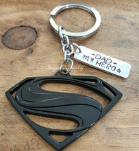 Load image into Gallery viewer, My Dad Superhero Keychain-JazzieJ'sJewelry
