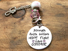 Load image into Gallery viewer, Breast Cancer Car Charm/Rearview Mirror-JazzieJ'sJewelry