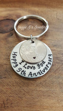 Load image into Gallery viewer, 5 Year Anniversary Keychain-JazzieJ'sJewelry