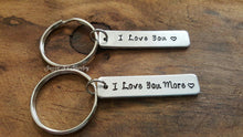 Load image into Gallery viewer, I Love You & I Love You More Keychain Set-JazzieJ'sJewelry