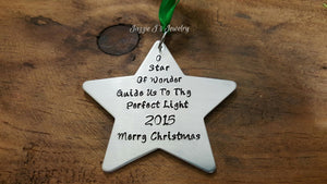Star Christmas Ornament-JazzieJ'sJewelry