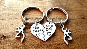 Her Buck His Doe Keychains Set-JazzieJ'sJewelry
