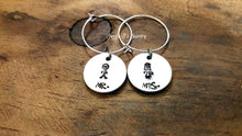 Load image into Gallery viewer, Bride and Groom Wine Charms-JazzieJ'sJewelry
