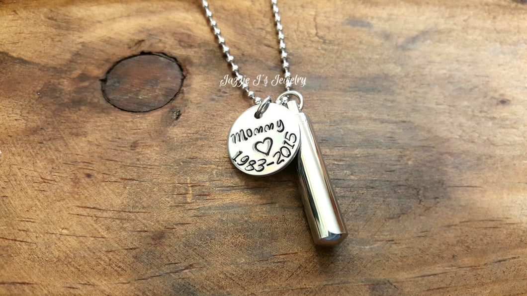Personalized Cremation Urn Necklace-JazzieJ'sJewelry