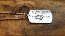 Load image into Gallery viewer, Be Strong & Courageous Necklace-JazzieJ'sJewelry