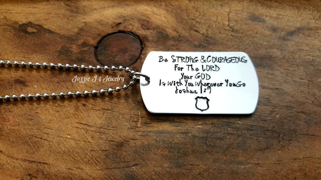 Be Strong & Courageous Necklace-JazzieJ'sJewelry