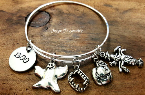 Boo Halloween Bangle-JazzieJ'sJewelry