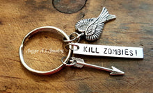 Load image into Gallery viewer, Kill Zombies Keychain-JazzieJ'sJewelry