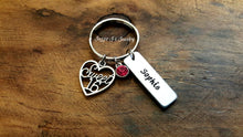 Load image into Gallery viewer, Personalized Sweet 16 Keychain-JazzieJ'sJewelry