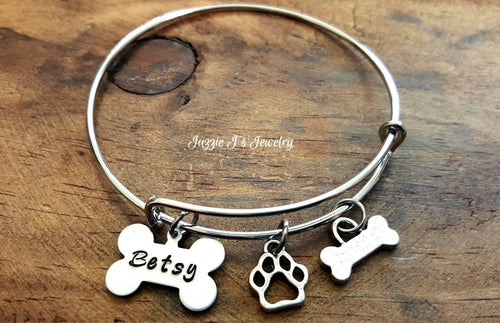 Dog Lover Bangle Bracelet-JazzieJ'sJewelry