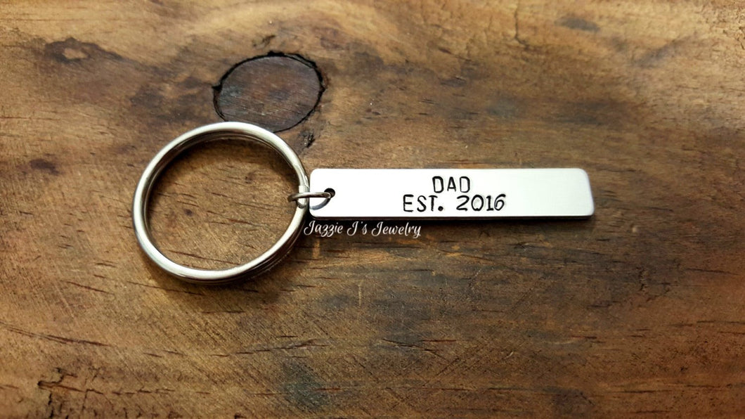 Personalized Year Established Keychain-JazzieJ'sJewelry