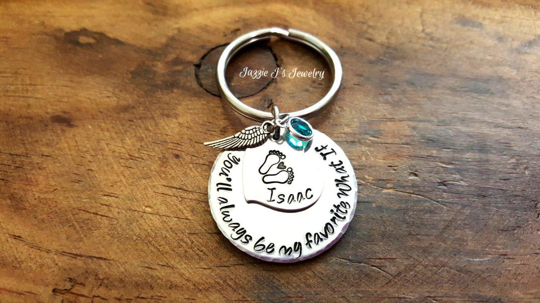 You'll Always Be My Favorite What If Keychain-JazzieJ'sJewelry