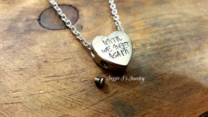 Heart Cremation Urn Necklace-JazzieJ'sJewelry