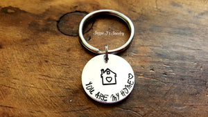 You Are My Home Keychain-JazzieJ'sJewelry