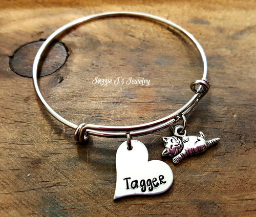 Cat Lover Bangle Bracelet-JazzieJ'sJewelry