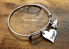 Load image into Gallery viewer, Cat Lover Bangle Bracelet-JazzieJ'sJewelry