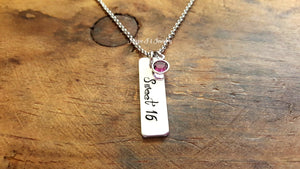 Personalized Sweet 16 Necklace-JazzieJ'sJewelry
