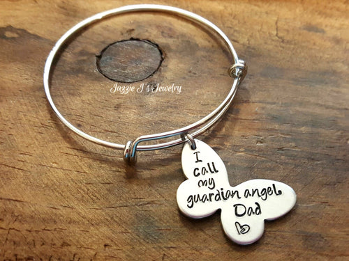 Guardian Angel Bangle Bracelet-JazzieJ'sJewelry