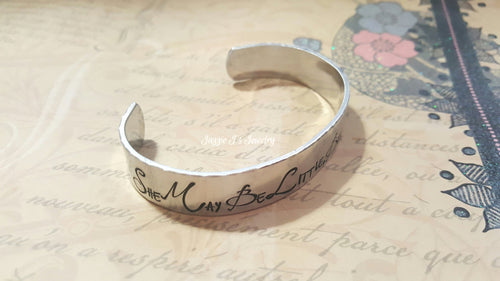She May Be Little But She Is Fierce Cuff Bracelet-JazzieJ'sJewelry