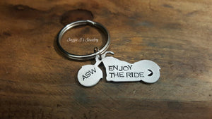 Enjoy The Ride Motorcycle Keychain-JazzieJ'sJewelry