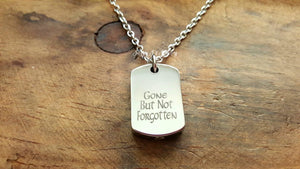 Stainless Steel Dog Tag Urn Necklace-JazzieJ'sJewelry