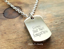 Load image into Gallery viewer, Stainless Steel Dog Tag Urn Necklace-JazzieJ'sJewelry