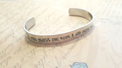God Bless The Moon Cuff Bracelet-JazzieJ'sJewelry