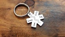 Load image into Gallery viewer, Star of Life EMT Keychain-JazzieJ'sJewelry