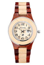 Load image into Gallery viewer, Women's Natural Maple & Rosewood  Wooden Watch - She Deserve It