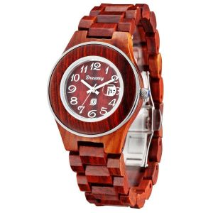 Women's Natural Rosewood Wooden Watch - She Deserve It