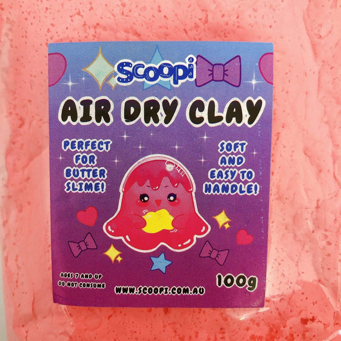A bag of 100g of pink air dry clay