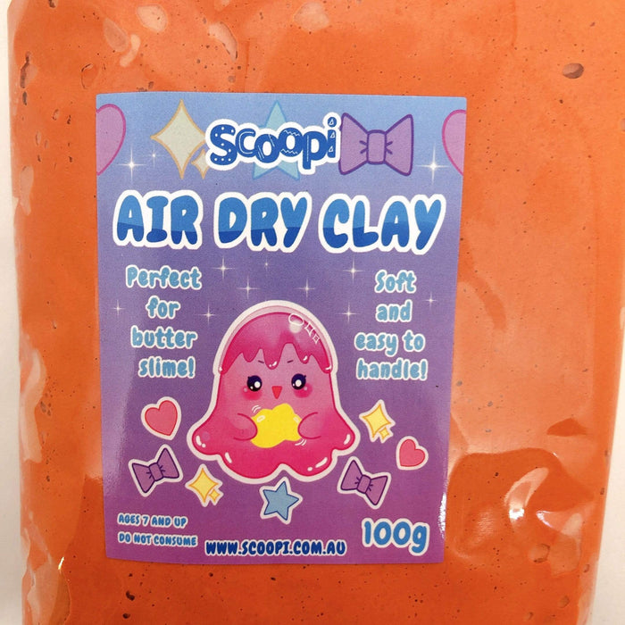 A bag of 100g of chocolate air dry clay
