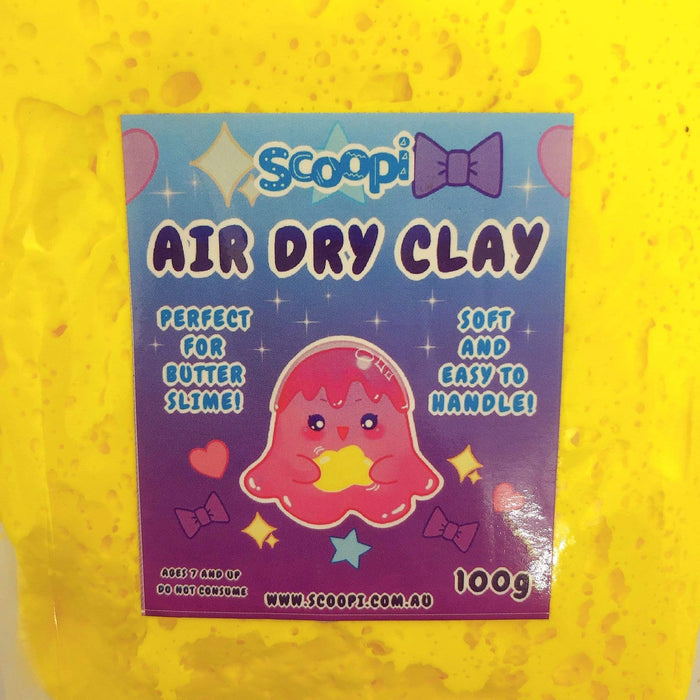 A bag of 100g of yellow air dry clay