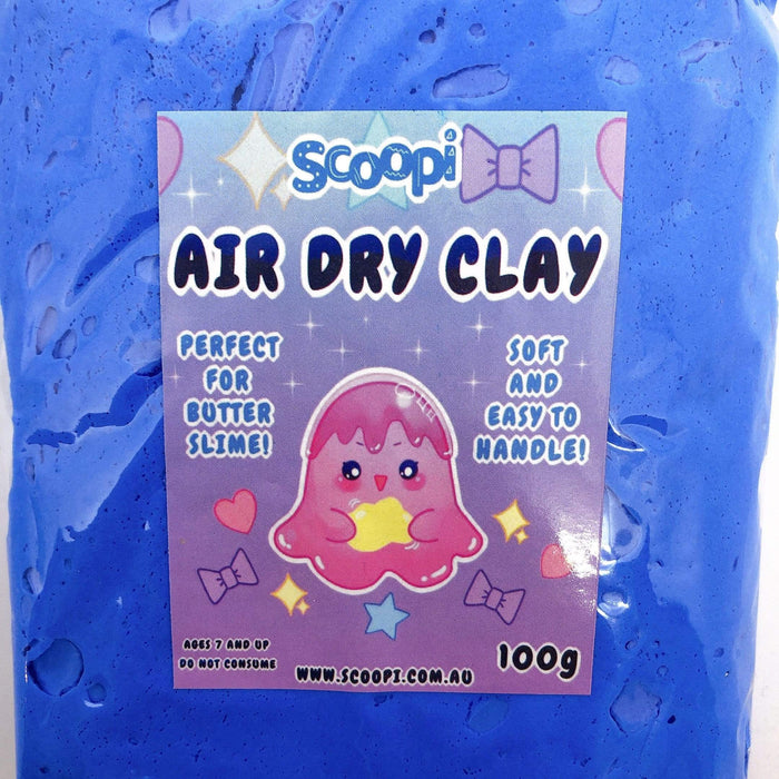 A bag of 100g of blue air dry clay