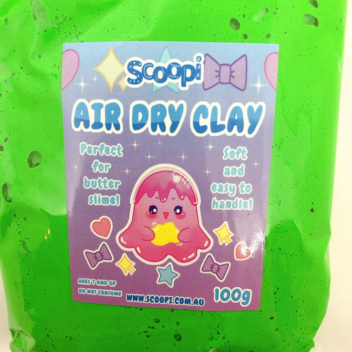 A bag of 100g of blue green dry clay