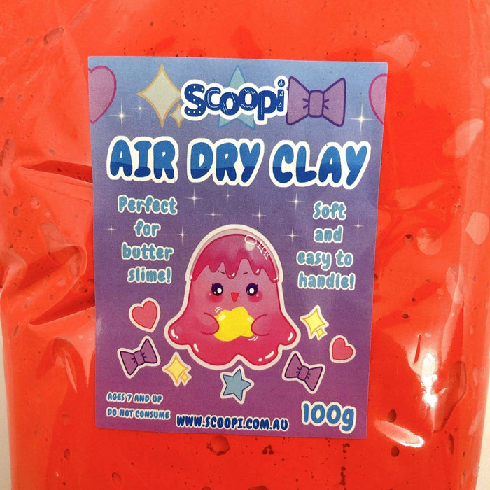 A bag of 100g of red air dry clay