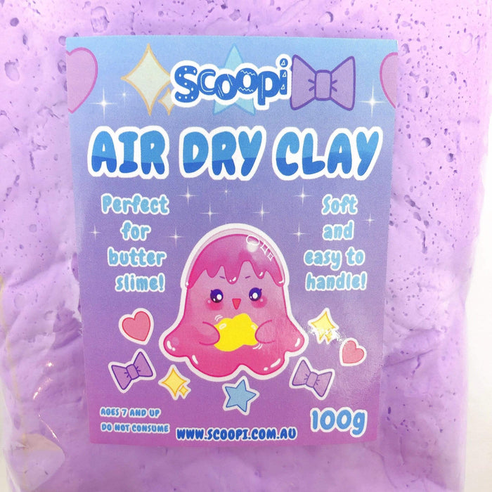 A bag of 100g of purple air dry clay