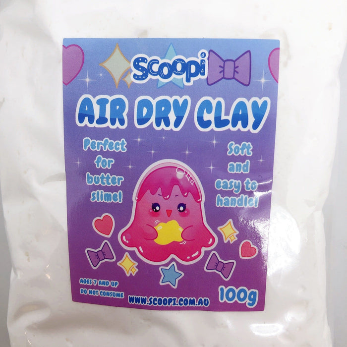 A bag of 100g of white air dry clay