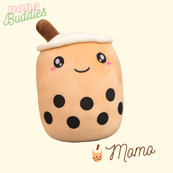 Light brown boba plushy