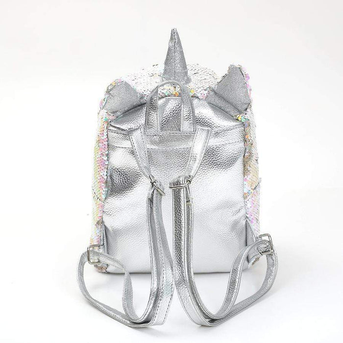 Mr Unicorn backpack with silver back and straps